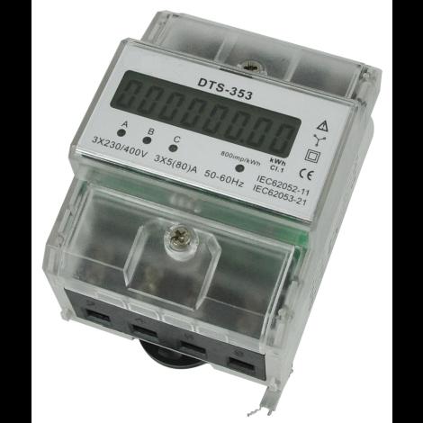 Medidor de energia trifásico DIN