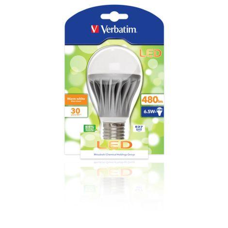 Lâmpada LED Verbatim Classic A E27 6,5W (50W)