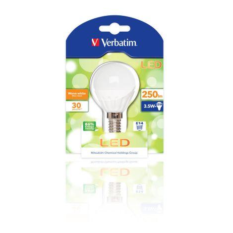 Lâmpada LED Verbatim Mini Globo E14 3,5W (25W)