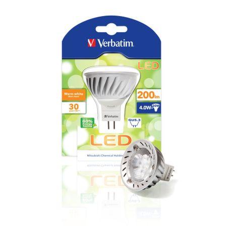 Lâmpada LED Verbatim Foco MR16 GU5.3 4W (20W)