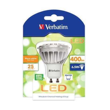 Lâmpada LED Verbatim Foco PAR16 GU10 6,5W (57W)