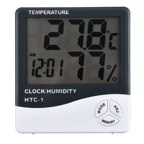 Termómetro, Higrómetro e Relógio Digital com LCD