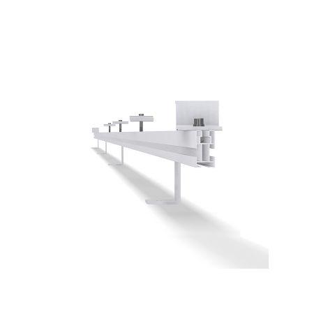 Estrutura de fixação coplanar horizontal - Telha plana