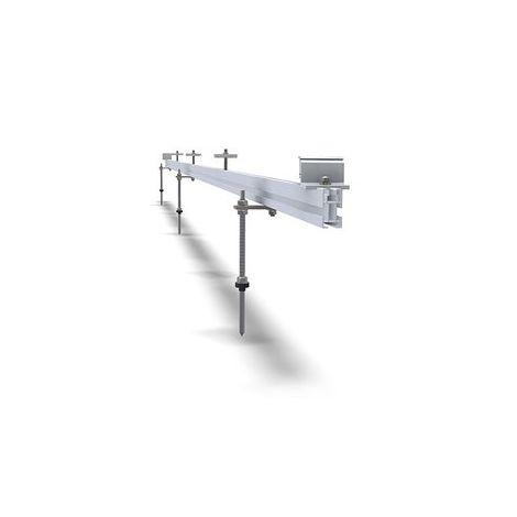 Estrutura de fixação coplanar horizontal - Parafuso rosca dupla