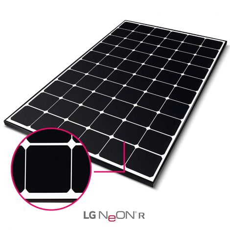 Módulos Fotovoltaicos LG Neon R de 370 Wp - LG370Q1C-V5