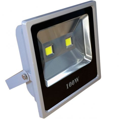 Projector LED Branco Frio c/ F.A. Mean Well 100W (300W)