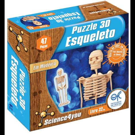 Puzzle 3D Madeira Esqueleto