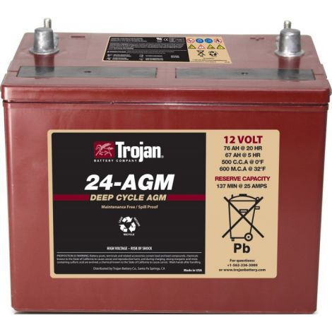 Bateria Monobloco Trojan 12V 24-AGM