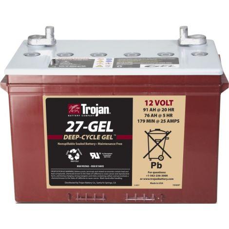 Bateria Monobloco Trojan 12V 27-GEL