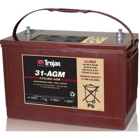 Bateria Monobloco Trojan 12V 31-AGM