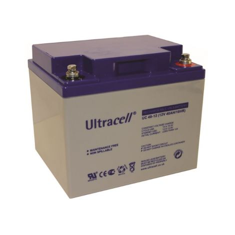 "Bateria Chumbo ""Deep Cycle"" Ultracell 12V 40Ah - UC40-12"