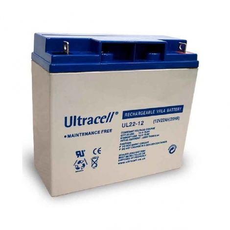 Bateria Chumbo Ultracell 12V 22Ah - UL22-12