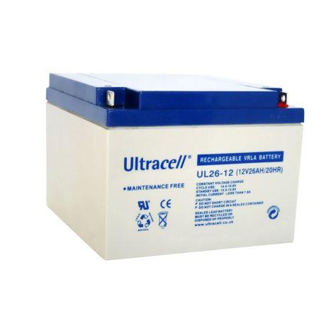 Bateria Chumbo Ultracell 12V 26Ah - UL26-12