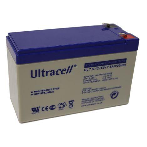 Bateria Chumbo Ultracell 12V 7,5Ah - UL7.5-12