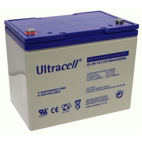 Bateria Chumbo Ultracell 12V 80Ah - UL80-12