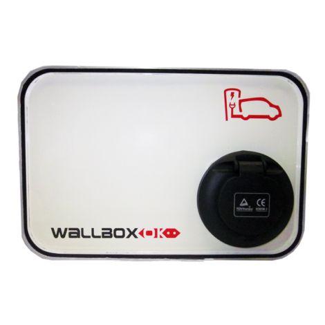 Estação de Carregamento WallboxOK Modo 3 com conector Mennekes 32A Trifásico
