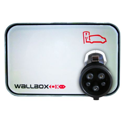 Estação de Carregamento WallboxOK Modo 3 com mangueira SAE J1772 16A