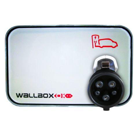 Estação de Carregamento WallboxOK Modo 3 com mangueira SAE J1772 32A